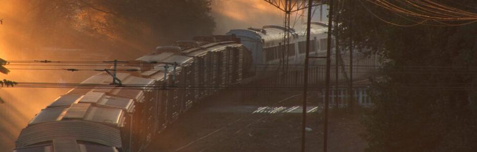 Un tren a Pampa Blanca